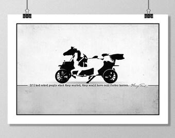 "HENRY FORD Inspirational Quote Minimalist Art Print - 13""x19"" (33x48 cm)"