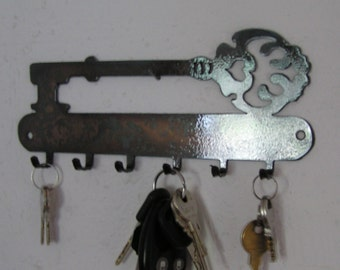 Key Holder with Key on top - Key holder  -Metal art