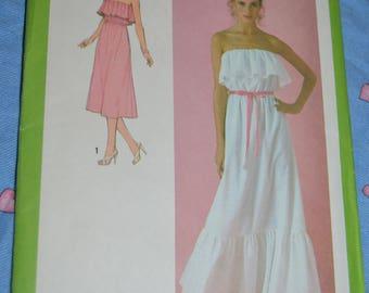 70s Simplicity 8956 Misses Dress Pattern Sewing Pattern UNCUT Size 14