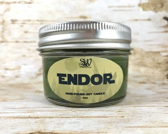 Endor Scented Candle | Star Wars | Ewok | Forest | Jedi | Skywalker | Stormtrooper | Soy | Birthday | Anniversary | gift | Darth Vader |
