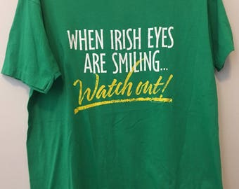 80's vintage Irish t-shirt - XL - Hallmark brand Screen Stars 50/50 - Saint Patricks Day
