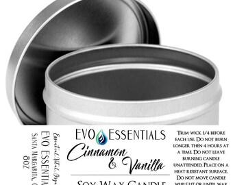 Soy Candle | 8oz Tin Jar | 30 Hour Burn | Rosemary & Lemongrass
