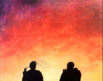 "Breaking Bad Art, Original Acrylic Painting on Canvas, 20x16"""
