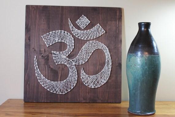 Om wall art meditation sign string art omkara aumkara diy solutioingenieria Images