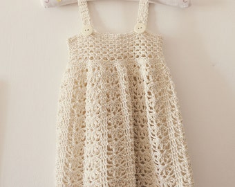 Crochet dress PATTERN - Sarafan Dress (sizes up to 5 years)