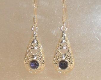 cordierite or iolite earrings and 925