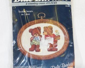 Vintage Dale Burdett cross stitch kit Teddy bears in love 1985 CK153