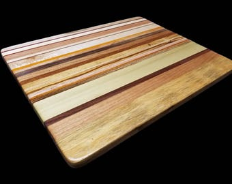 """Exotic Wood Cutting Board  (14"""" x 11 1/4"""" x 5/8"""" Thick)"""