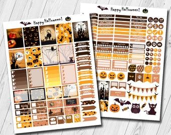 Halloween october planner stickers, decorative stickers planner fall, fall planner stickers, autumn planner stickers,