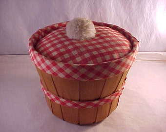 Split Wood Sewing Basket Pin Cushion Cover