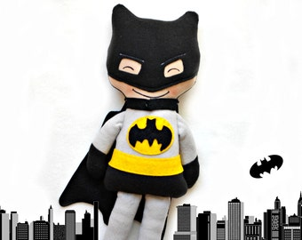 Cloth Doll For Boys Batman Inspired Rag Doll Superhero Fabric Doll Toddler Toys Gift For Batman Fans