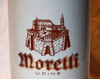 Birra Moretti, Udine Italian Beer  1 liter stoneware stein