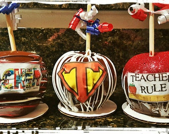 Custom designed Caramel Apples for any occasion!