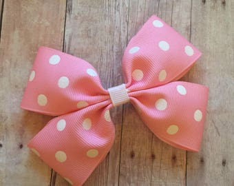 """4"""" Minnie Mouse Inspired Bow"""