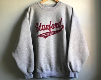 90s Simple Standford Gray Sweatshirt - XL