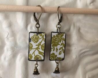 "Tin Jewelry Earrings ""Fresh"" Tin for the Ten Year Tenth Wedding Anniversary"