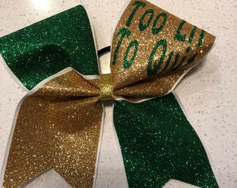 Too Lit To Quit Cheer Bow