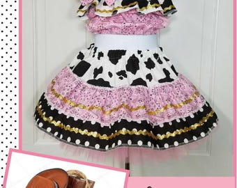 Cowgirl Costume, Western Outfit,  Rodeo Outfit, Western Pageant, Cowgirl Birthday, Western Birthday, Semi Glitz Cowgirl, Semi Glitz Western