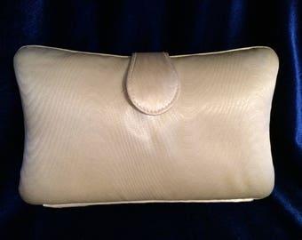 Vintage Whiting and Davis International Damask Clutch Handbag 1980s