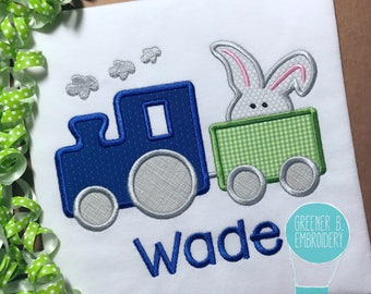 Easter Train Shirt / Easter Train Applique / Boy Easter Shirt / Easter Outfit / Easter Egg Shirt / Toddler Easter / Baby Easter / 1st Easter