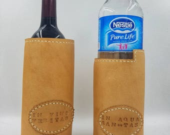 leather vine/water bottle carrier