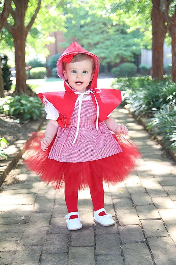 Baby Little Red Riding Hood tutu costume