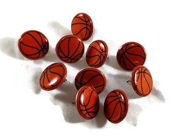 Basketball Sports Brads Scrapbooking Paper Fasteners | Embellishments | Paper crafting