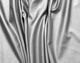 Metallic Silver Faux Vegan Leather Fabric **UK Seller**