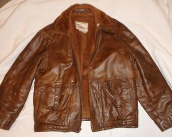 Wickfield Sportswear Men's Brown Leather Jacket