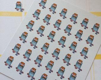 Planner Stickers 36 Children's Vitamins Day Planner Stickers Fits Erin Condren Planner