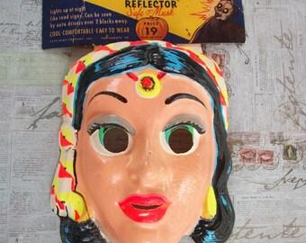 """Vintage 1950's Halloween Mask- Reflector Safe-T-Mask - """"The Mask That Lights Up""""."""