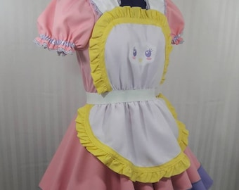 Lolita babydoll pastel maid cafe lolita cosplay dress adult--small to plus size choose color