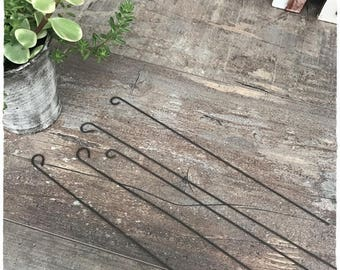 Set of 5 stems iron perfect for your tags or decoration of your plants...