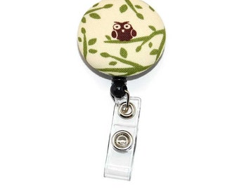 Owl Badge Reel with Retractable ID Name Tag Holder