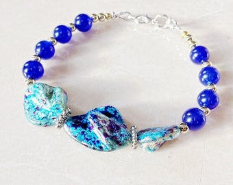 Turquoise Mother of a Pearl Bracelet