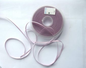 roll of 50 meters of 3mm art - purple colors - satin ribbon 1711