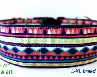 Aztec-Bohemian 1 1/2 inch dog collar