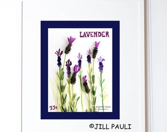 Lavender Seed Packet Wall Art