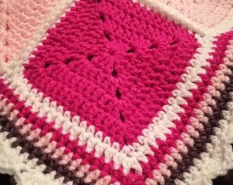 Crochet solid block blanket