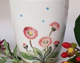 Porcelain Mug für Nature lovers, handpainted Mug
