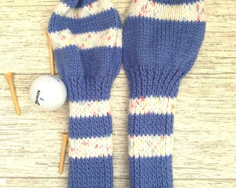 Golf headcover, Golf club head cover set, knit headcovers, golf head covers, golf woods set,