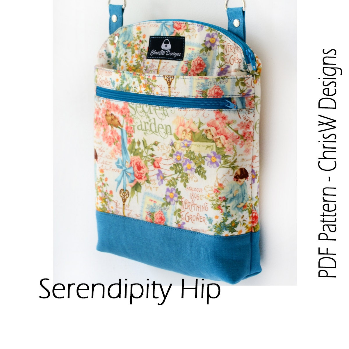 Designer hipster cross body bag pattern pdf for sewing your zoom jeuxipadfo Images