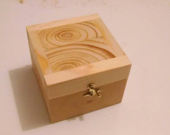 Rustic Handmade Reclaimed Wooden Box for engagement ring, man jewelry, other rings,  etc