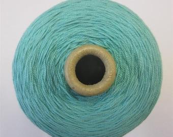 3/10's mercerised cotton yarn - pale turquoise