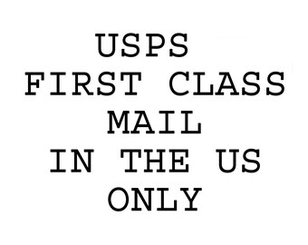 First Class Shipping in the US