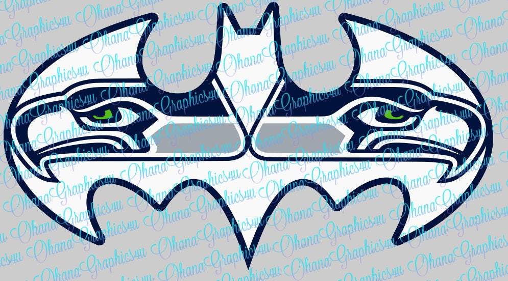 Seattle Seahawks Symbol In A Batman Symbol Svg