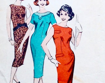 Vintage 1950s Paper Pattern, Butterick Quick N' Easy, Bust 34, Size 14, No 8568, Sewing Pattern, Designed in New York, Made in Australia