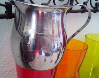 "Engraving - 20 cl customizable metal milk jug ""Babette the cow"""