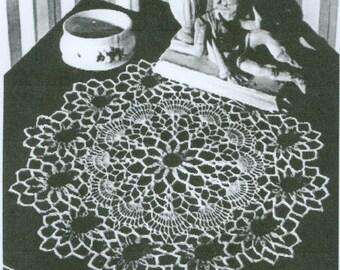 Black Eyed Susan Crochet Doilie Pattern  PDF Instant Download