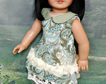 """Doll Mori Girl Collared Dress Outfit -- American Made to fit your 18"""" Girl Doll OOAK"""